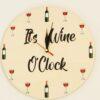 "Ceas personalizat ""It's Wine O'clock"""