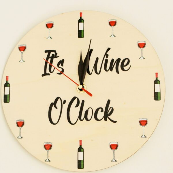 "Ceas personalizat ""It's Wine O'clock"""