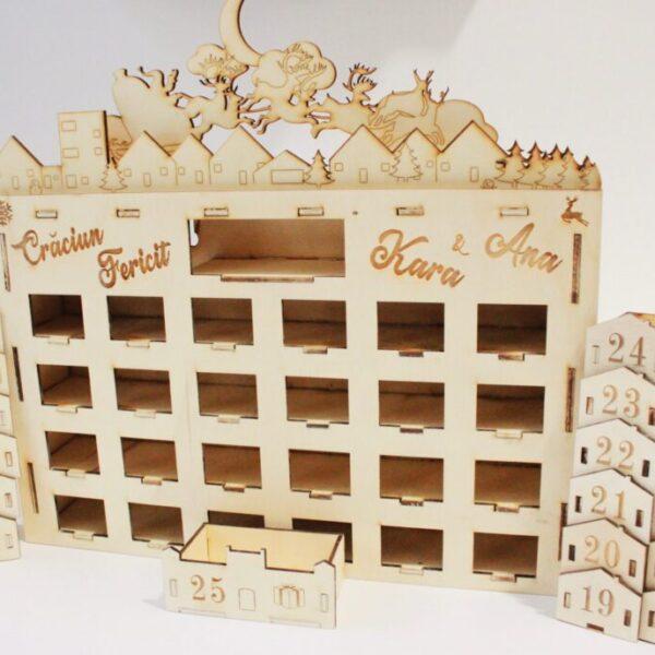 Calendar Advent din lemn personalizat