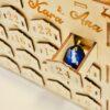 Calendar Advent din lemn personalizat cu nume