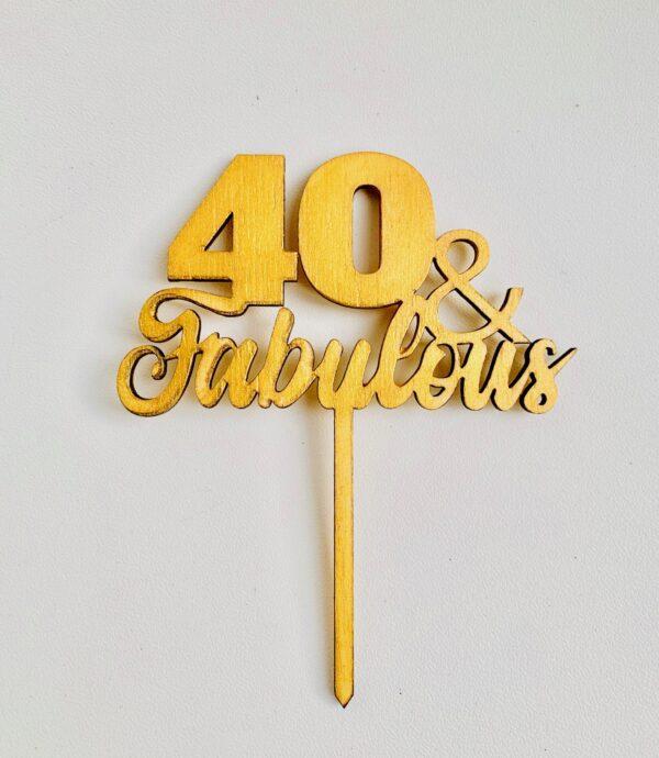 Topper 40 & Fabulous