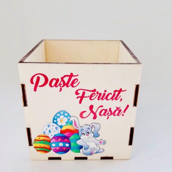 """Cutie decorativa """"Paște Fericit, Nașa!"""""""