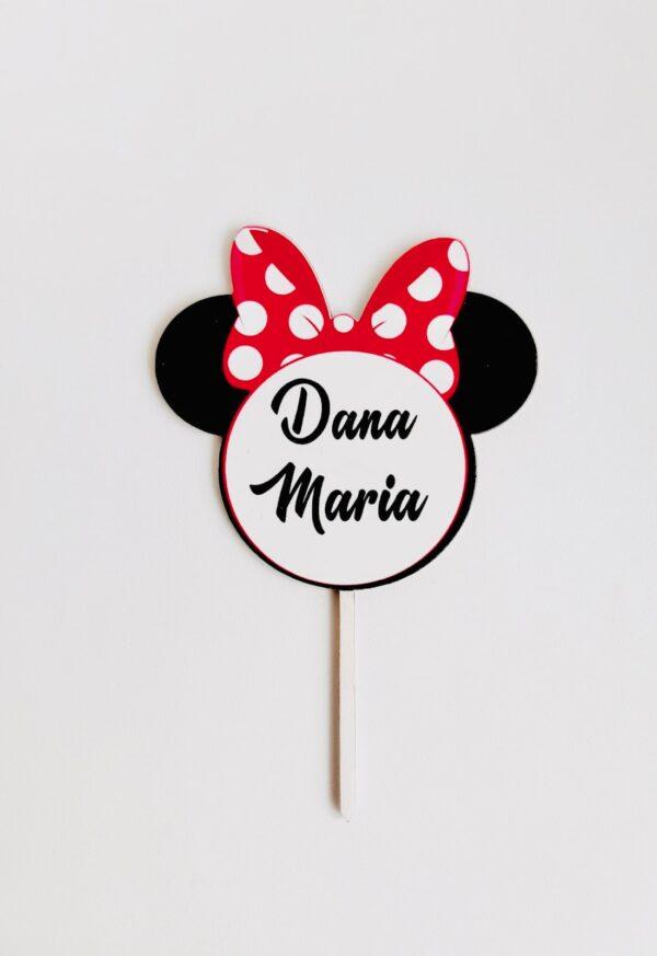 Topper Minnie Personalizat